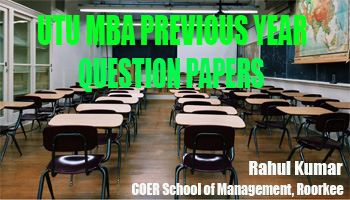 UTU MBA Previous Year Question Papers